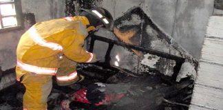 Incendio en Sucre