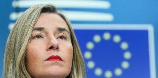 Federica Mogherini, representante de la Unión Europea.