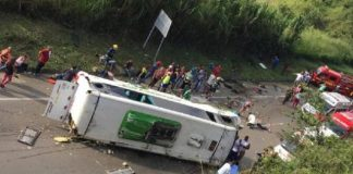 Accidente tránsito en Colombia