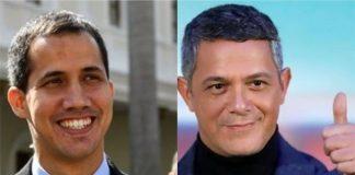 Guaidó y Alejandro Sanz