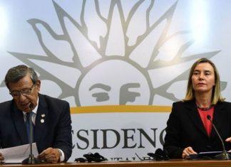 Rodolfo Nin Novoa y Federica Mogherini