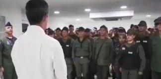 Guaidó y militares desertores