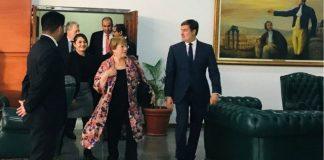 Bachelet en su primer día en Venezuela.