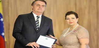 Jair Bolsonaro y María Teresa Belandria.