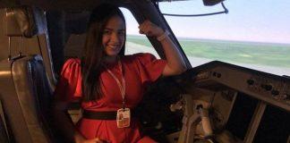 Andrea Palacios, se convirtió en la primera mujer de Venezuela y América Latina en certificarse como piloto en un simulador Embraer E190.