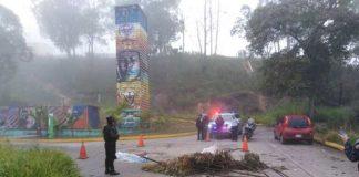 Explosión de granada en la Panamericana.