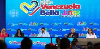 Maduro en rueda de prensa.