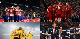 Octavos de Champions: Atlético de Madrid vs Liverpool y Dortmund vs PSG