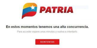 Plataforma Patria presenta fallas