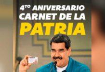 monto del Bono Cuarto Aniversario del Carnet de la Patria