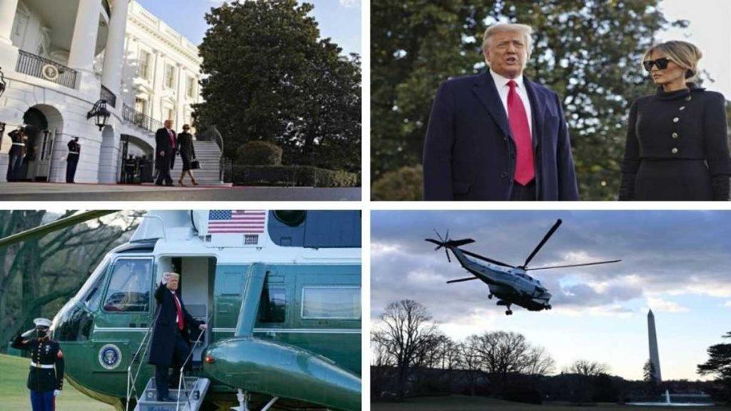 Donald Trump abandonó la Casa Blanca