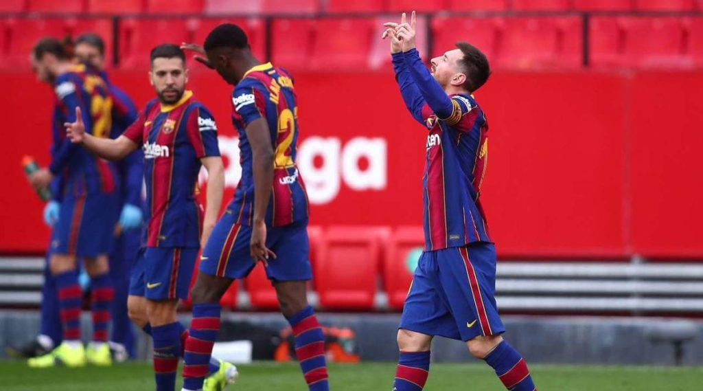 Barcelona derrotó al Sevilla con gol y asistencia de Messi