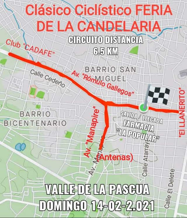 clásico ciclístico en Honor a La Virgen de la Candelaria