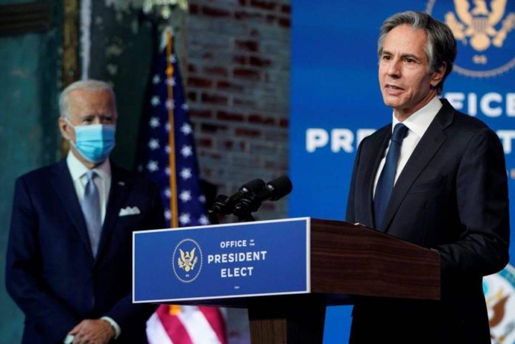Joe Biden y Antony Blinken