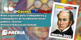 Simón Rodríguez marzo