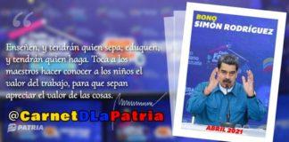 Bono Simón Rodríguez de abril