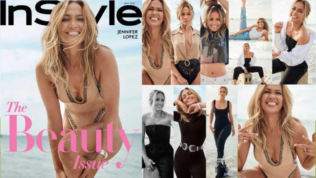 JLO exhibe sus curvas en la revista 'Instyle'