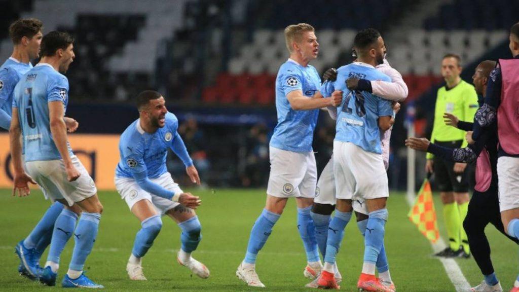 Manchester City derrotó al PSG en la ida de semifinales de Champions League