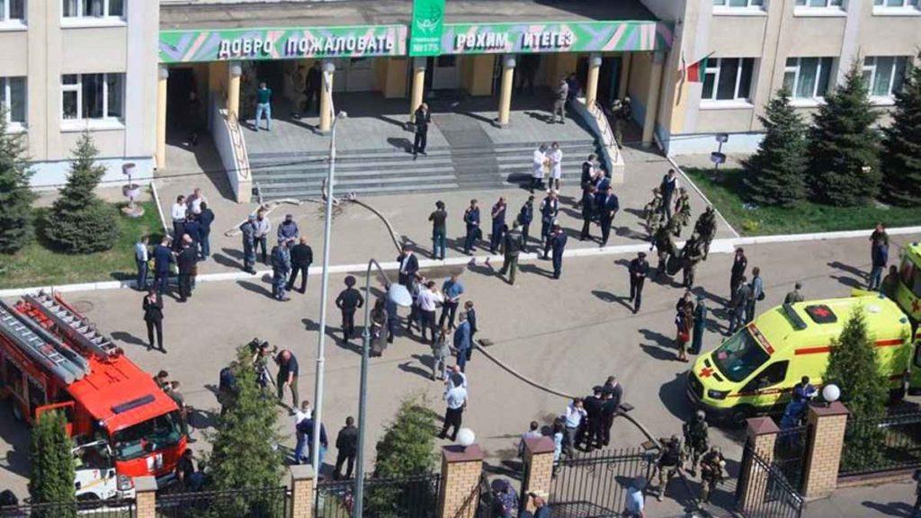 Un exalumno mató a siete escolares en una escuela de Rusia